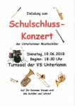 Schulschluss-Konzert der Musikschüler