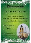 Adventandacht in der Haselbachkapelle
